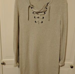 Madewell lace up wool sweater dress.   Size xs